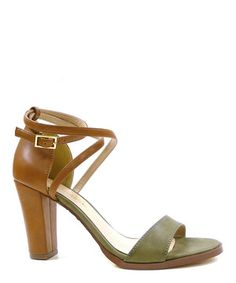 This cityClassified Khaki Rako Ankle-Strap Sandal by cityClassified is perfect! #zulilyfinds