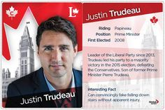 Download a set of our cabinet trading cards here! Liberal Party, Justin Trudeau, Falling Down, Trading Cards, Fun Facts, Politics, Positivity, Cabinet, Collection