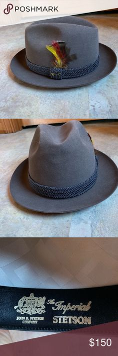 34c20067c19 STETSON THE IMPERIAL MINT COND NEVER WORN VINTAGE VINTAGE STETSON IMPERIAL  KEY CLUB 60s 70s