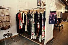 Clothing racks, Galvanized pipe