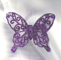 Purple Glitter Dragon | Glitter Butterflies Large glitter butterfly at