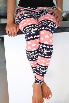 Sharing Some Love leggings, Pink & Blue - Klassy ♥ Kassy