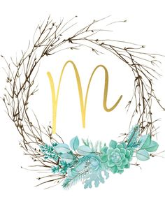 Zeige m. Monogram Wallpaper, Alphabet Wallpaper, Letter B Iphone Wallpaper, Wallpaper Quotes, Wallpaper Backgrounds, Free Printable Art, Floral Letters, Name Art, Letter Art