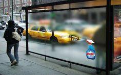 windex bus stop ad - Google-haku