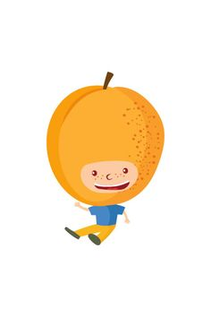 Apricot Kid Vector #apricot #vector #fruits #handdrawvector http://www.vectorvice.com/fruit-kids-vector-pack