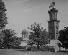 The Belmont water tower, greenhouse, and conservatory in late 1800's (Nashville, Tennessee)