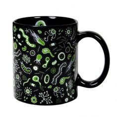 Bacterias como si las vieses ampliadas por un microscopio, este mug no es apto para escrupulosos... ¡venga tómate ese café con galletas que lo que no mata, engorda!