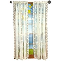"95"" Long Ivory Fiona Scottish Lace Curtain Panel"