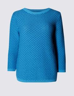 Buy the Cable Knit Twisted Slub Jumper from Marks and Spencer's range. Cable Knit Jumper, Knitting, Fitness, Sweaters, Stuff To Buy, Clothes, Shopping, Collection, Fashion