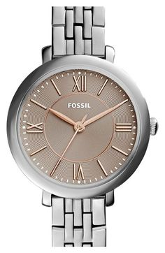 Fossil 'Jacqueline' Round Bracelet Watch, 26mm available at #Nordstrom