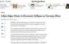 نيويورك تايمز : ليبيا على حافة انهيار اقتصادي قريب