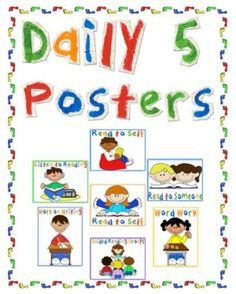 The Daily 5 Poster  Currently, Math Daily 5 includes:  Math by Myself  Math with Someone  Math with Technology  Math Writing  Math Work