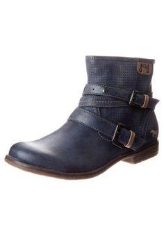 Biker-/cowboy ankle boots in blue
