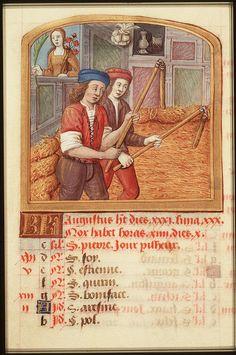 Maagd. #virgo http://www.kb.nl/webexposities/hoogtepunten-uit-middeleeuwse-handschriften/tekens-van-de-dierenriem