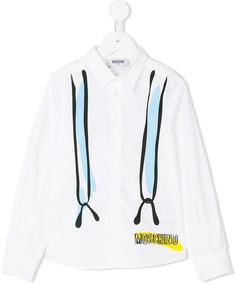 Moschino Kids suspender print shirt