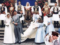 Gebrek aan land en monarchie geen bezwaar: het huwelijk van © Prins Pavlos en prinses Marie-Chantal was in 1995 een echte Royal Wedding © People / Getty Images