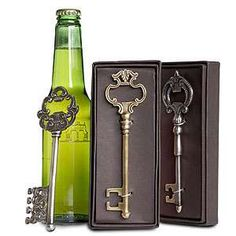 Key bottle openers; I saw these at the World Market in Plano