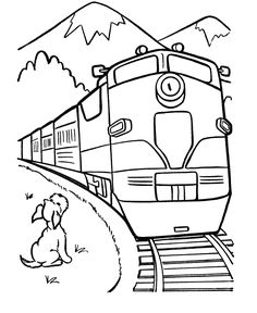 218 best trains images train trains steam lo otive EMD GP60 trains crossing the mountains coloring picture for kids train coloring pages free kids coloring pages
