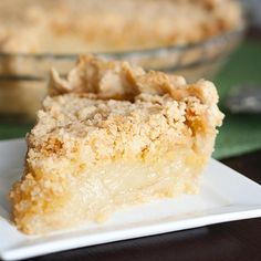 Vanilla Crumb Pie ( or SnickerDoodle Cookie in Pie form). From Tasty Kitchen Pie Dessert, Eat Dessert First, Tasty Kitchen, Kitchen Recipes, Milk Shakes, Milk Shake Chocolat, Köstliche Desserts, Dessert Recipes, Amish Recipes