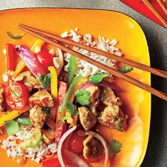 This colorful pork stir-fry recipe features pieces of pork tenderloin seasoned with cumin cooked with bell peppers, tomato, jalapeño...Toss over warm brown rice, crisp greens, or tuck into corn tortillas for the ultimate full-plate effect.