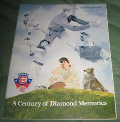 Chicago Cubs 1976 Century of Diamond Memories Souvenir Program MLB Wrigley Field #Cubs #ChicagoCubs