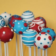 Hey, I found this really awesome Etsy listing at https://www.etsy.com/listing/180965115/12-dr-seuss-cake-pop-celebration