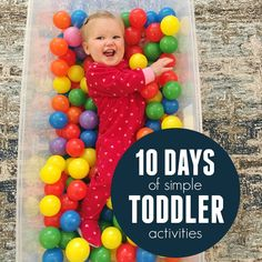10 Days of Simple Toddler Activities