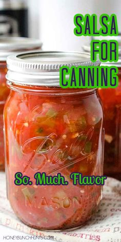 Salsa Canning Recipes, Canning Salsa, Spicy Salsa Recipe For Canning, Jalapeno Canning, Mexican Salsa Recipes, Homemade Canned Salsa, Canned Tomato Salsa, Homemade Salsa Recipes, Tomato Sauce