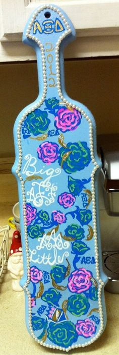 Personalized Lilly Pulitzer Sorority Paddle by Sparkledberries, $85.00