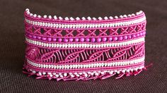 This is a tutorial on how to make a Wide Macramé Cuff Bracelet. Crosses & Leaves pattern with beads. Two bracelets in One :) Please watch more macrame bracel...