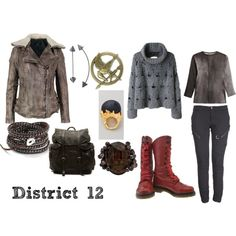 The Hunger Games-inspired 'District 12' inspired by tepeca2000 on Polyvore