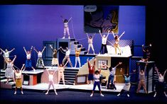 Love the pop art and the telephone cords Theatre Nerds, Musical Theatre, Theater, Bye Bye Birdie, Heathers The Musical, Stage Set Design, Zombie Prom, Family Tv, Now And Then Movie