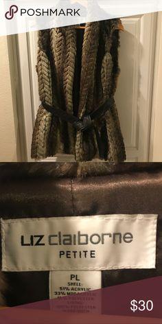 Liz Claiborne faux vest Liz Claiborne faux vest • great condition • size PL ✨✨ Liz Claiborne Jackets & Coats Vests