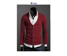 Men's Knitwear Slim Casual Fleece Sweater