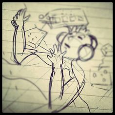 Schizzo di un'idea per artwork.