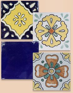 Beautiful Puebla Talavera Mexican clay tile.