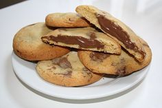 If you are a lover of Nutella like me then these cookies are just for you! Along with chunks of chocolate with every bite, the gooey Nutella middle makes them even more delicious. Its combination of chocolate and hazelnuts is just divine.