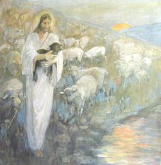 another painting I would love to have in my house... Rescue of the Lamb, by Minerva Teichert