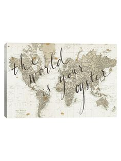 The World Is Your Oyster by Sara Zieve Miler (Canvas) from Use Your Words: Statement Art on Gilt