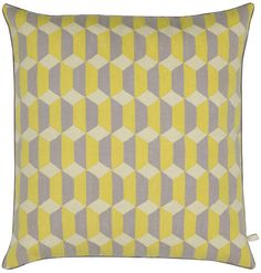 Contemporary Rugs - UK Handmade Modern Rugs - The Rug Company Sofa Bed Yellow, Yellow Cushions, Mellow Yellow, Grey Yellow, Contemporary Rugs, Modern Rugs, Rug Company, Home Textile, Tapestry