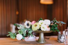 centerpiece with anemones and ranunculus | Haley Sheffield #wedding