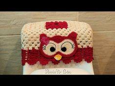 Jogo de banheiro coruja : Capa para Caixa acoplada # Elisa Crochê - YouTube