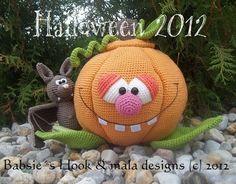 Kürbis, Halloween, Häkelanleitung pdf von mala designs auf DaWanda.com