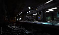 ArtStation - U55 End of the line metro, Lukas Fußhöller