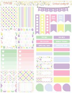 Pastel Easter weekly spread https://www.etsy.com/ie/shop/PrettyCraftyStickers?ref=hdr_shop_menu
