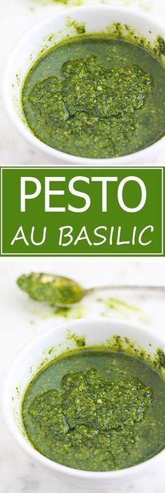 The recipe for traditional basil pesto (or pesto alla genovese). A very fragrant cold sauce, full of flavors and simplissime. A treat with pasta, vegetables or grilled meats. I also give you ideas for making pesto variants as well as other ideas for use. Sauce Recipes, Meat Recipes, Pasta Recipes, Healthy Recipes, Cream Cheese Pasta, Homemade Ramen, Homemade Pesto, Best Pasta Salad, How To Cook Meatballs