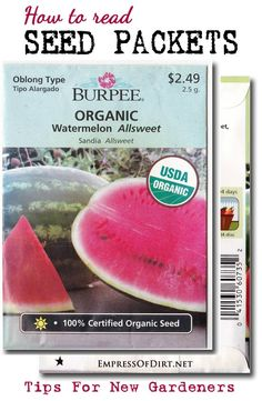 How to read seed packets: tips for new gardeners