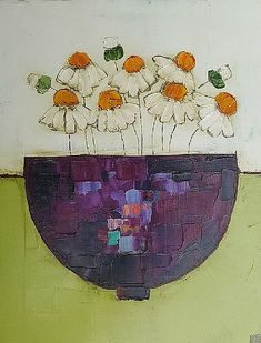 Quick To Build Moveable Greenhouse Options Irish Art By Eithne Roberts Paintings At The Doorway Gallery By Eithne Roberts Flowers In Vase Painting, Folk Art Flowers, Abstract Flowers, Flower Art, Art Deco Posters, Irish Art, Contemporary Abstract Art, Art Oil, Art Gallery