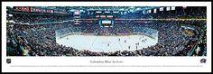 Columbus Blue Jackets Wood Mounted Panoramic Poster Print - Nationwide Arena