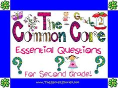 "Essential Questions Posters for Pre-K through 3rd.....  ""made-to-match"" the existing Common Core Standard Posters... Click & ""FOLLOW"" for notification of upcoming ""Free Download Windows""!!!"